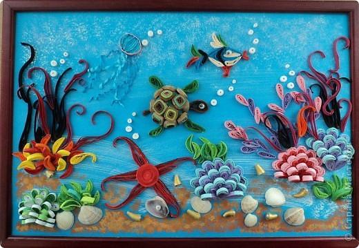 А эта работа Ирины12 лет, сестры Маши...:)))) Это наше морское дно...:)))) фото 8