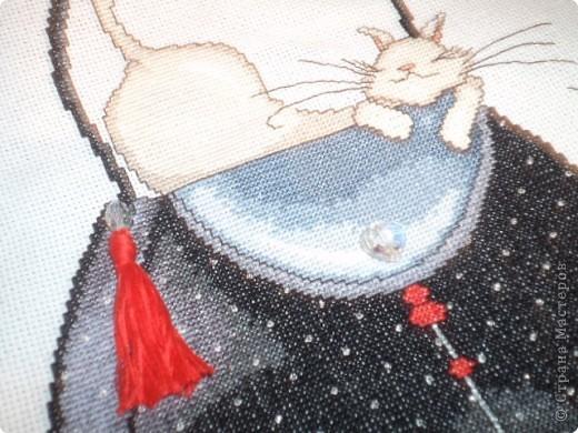 """""""Кошка на черной сумке"""" от Design Works фото 4"""