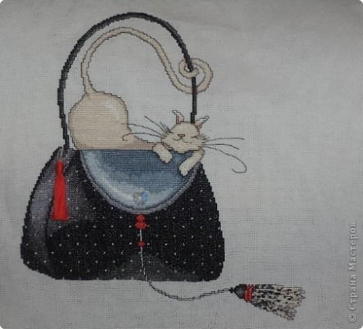 Вышивка крестом Кошка на