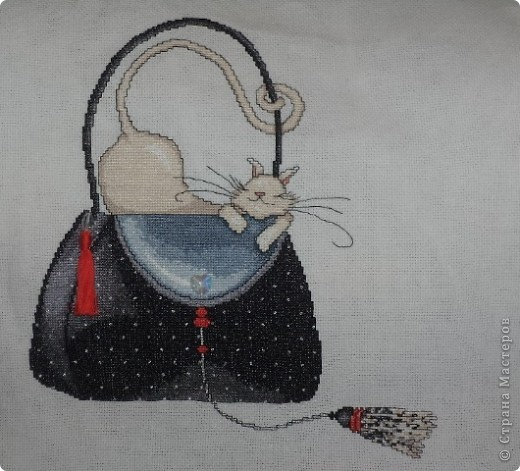 """""""Кошка на черной сумке"""" от Design Works фото 1"""