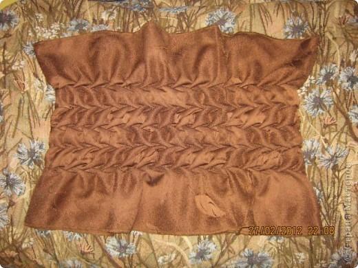 Круглая подушка с буфами