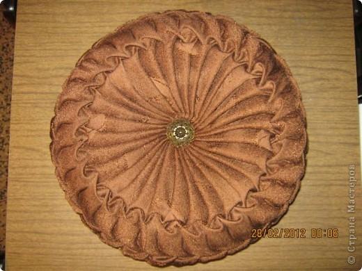 Мастер-класс Шитьё Круглая подушка с буфами МК Ткань фото 36
