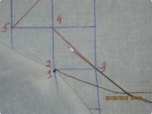 Мастер-класс Шитьё Круглая подушка с буфами МК Ткань фото 12