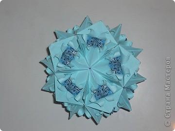"""Здравствуйте, коллеги!  В конце декабря мне повезло. Татьяна Высочина прислала мне туториал на """"Трюфельный торт"""" и """"Каменный цветок"""". Тортик стал любимой кусудамой моего старшего сына. фото 2"""
