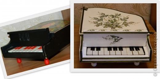 Муж принес от приятеля вот такой черный рояль. Ну думаю сделаю его повеселее, и получился рояль в......ландышах фото 2