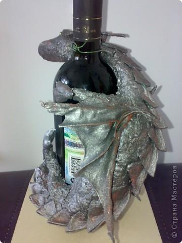 Дракоша (декор на бутылку) фото 1