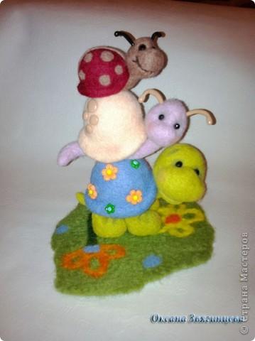 Черепашка, улиточка и маленькая божья коровка. Всегда вместе.  фото 1