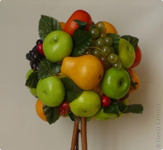 Всем привет!!!!!!!!!! У меня идет кипучая деятельность по подготовке к предстоящему празднику... А в нашей семье праздник двойной! 7 марта день рождения у моей МАМЫ. По этому случаю вырастила ей топиарий....фруктово-ягодный... фото 2