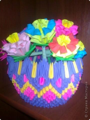 корзина цветов для мамочки