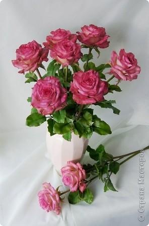 Вот такое розовое настроение у меня было... и вот что из этого получилось. Все цветы слеплены из готовых полимерных глин(холодный фарфор) modern clay, luna clay, Thai clay. фото 8