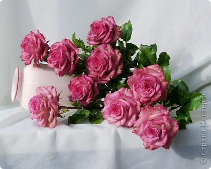 Вот такое розовое настроение у меня было... и вот что из этого получилось. Все цветы слеплены из готовых полимерных глин(холодный фарфор) modern clay, luna clay, Thai clay. фото 9