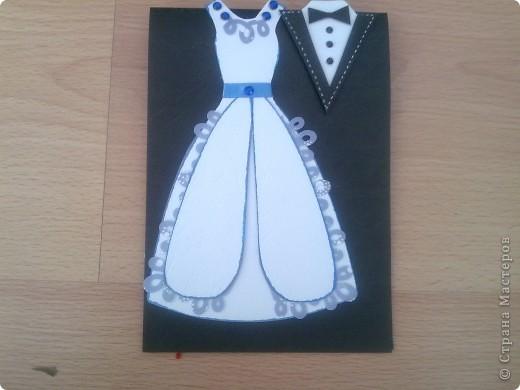 В этом году предполагается много юбилейных свадебных дат. Попробовала сделать простеньку открыточку фото 2