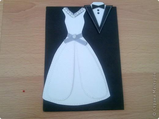 В этом году предполагается много юбилейных свадебных дат. Попробовала сделать простеньку открыточку фото 3