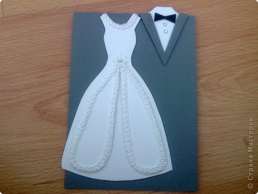 В этом году предполагается много юбилейных свадебных дат. Попробовала сделать простеньку открыточку фото 4