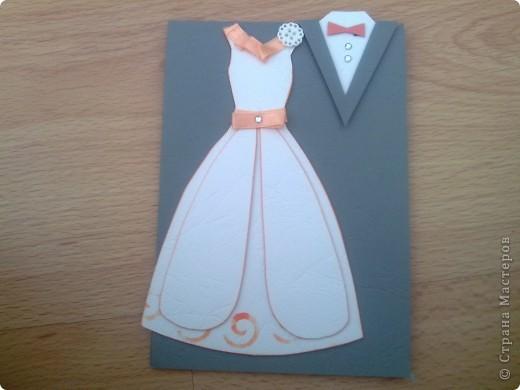 В этом году предполагается много юбилейных свадебных дат. Попробовала сделать простеньку открыточку фото 5
