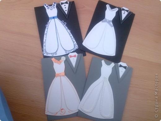 В этом году предполагается много юбилейных свадебных дат. Попробовала сделать простеньку открыточку фото 1
