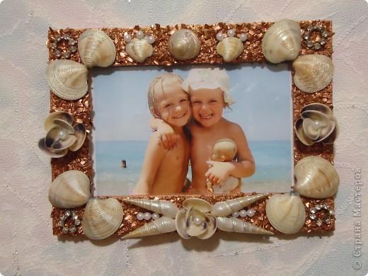 Как сделать из морских ракушек рамку для фото