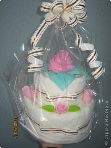 """Торт в подарок крёсной на день рождения, хотя можно и на 8 марта такой """"Испечь"""". фото 2"""