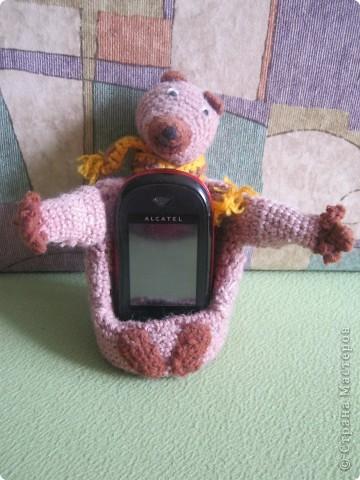 "Подставка под телефон ""Мишка"" фото 1"