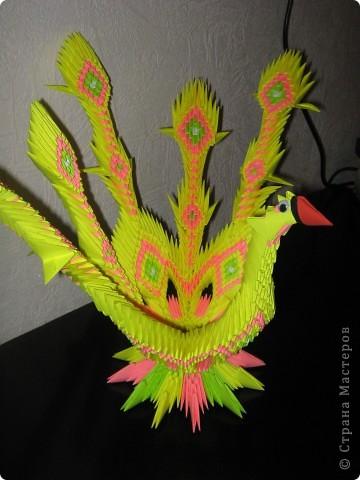 У данной птички первоначально предполагалось 7 перьев, но, неожиданно закончилась бумага))) фото 4