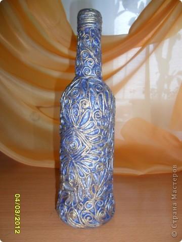 Эти бутылки выполнены в технике пейп-арт. Огромное спасибо за вдохновение Тане Сорокиной! фото 5