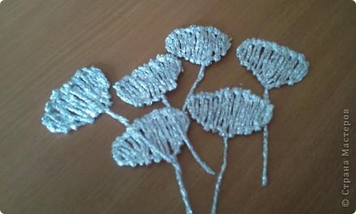 По росьбе выставляю МК розы из фольги Начало работы описанов МК лилии из фольги фото 14