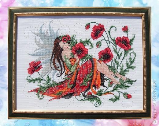 Вышивка крестом фея цветов