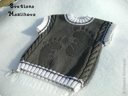 Идею и схему рисунка нашла вот по этой ссылке http://www.babyblog.ru/community/post/rukodelie/1719469 вязала в две нити. фото 1