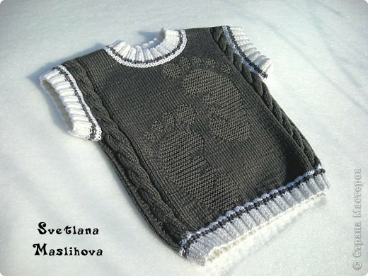 Идею и схему рисунка нашла вот по этой ссылке http://www.babyblog.ru/community/post/rukodelie/1719469 вязала в две нити. фото 2