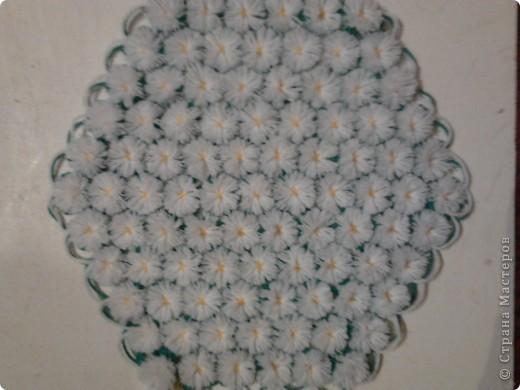 Плетение салфеток на рамке.  фото 4