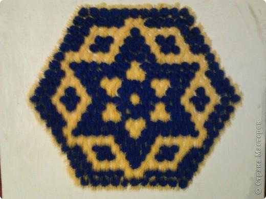 Плетение салфеток на рамке.  фото 7