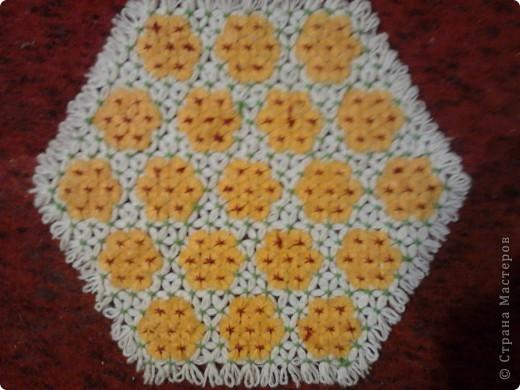 Плетение салфеток на рамке.  фото 2
