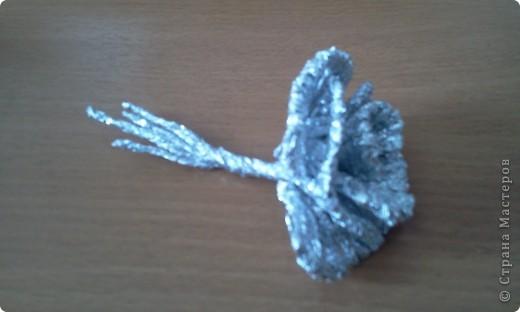 По росьбе выставляю МК розы из фольги Начало работы описанов МК лилии из фольги фото 24