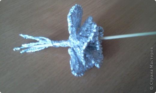 По росьбе выставляю МК розы из фольги Начало работы описанов МК лилии из фольги фото 25