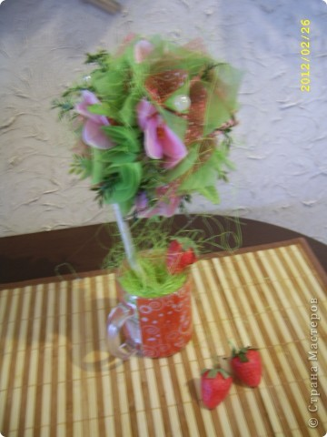 Мои топиарии!))))) Вишневое деревце фото 4