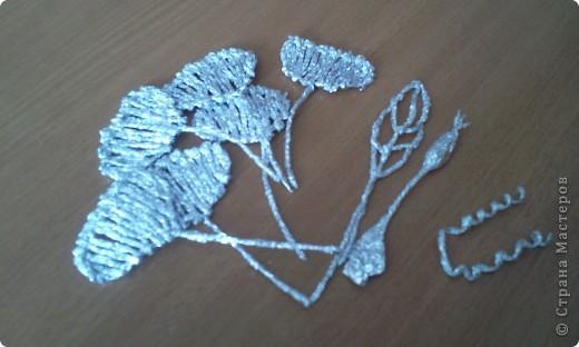 По росьбе выставляю МК розы из фольги Начало работы описанов МК лилии из фольги фото 21