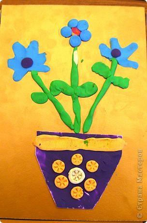 Шляпки-открытки для мам приготовили ребята 5-5,5 лет. Цветы из мокрой бумаги. фото 6