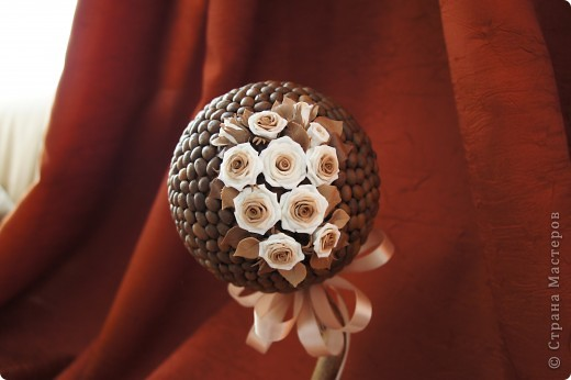 Кофейные деревца со сливочными розочками фото 4