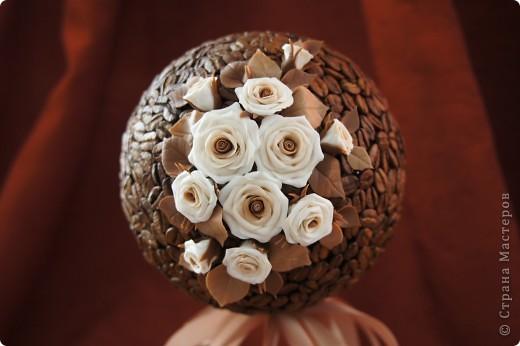 Кофейные деревца со сливочными розочками фото 5