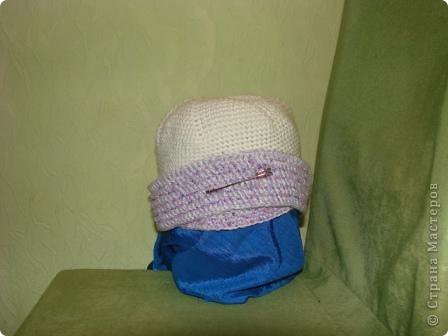 """здравствуйте, жители, см. увидела здесь в стране шарфики с симпотичными """"мордашками"""" и не удержалась связала свой. в комплект к нему простую шапульку. получился подарочек. фото 6"""