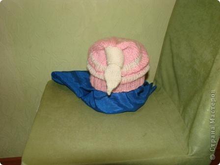 """здравствуйте, жители, см. увидела здесь в стране шарфики с симпотичными """"мордашками"""" и не удержалась связала свой. в комплект к нему простую шапульку. получился подарочек. фото 2"""