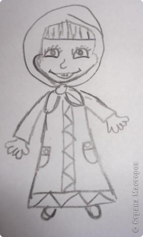 Вот такую Машу слепила на днях Вероника, а вдогонку решила еще и нарисовать фото 2