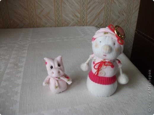 Снеговичок  и  дракончик . фото 3