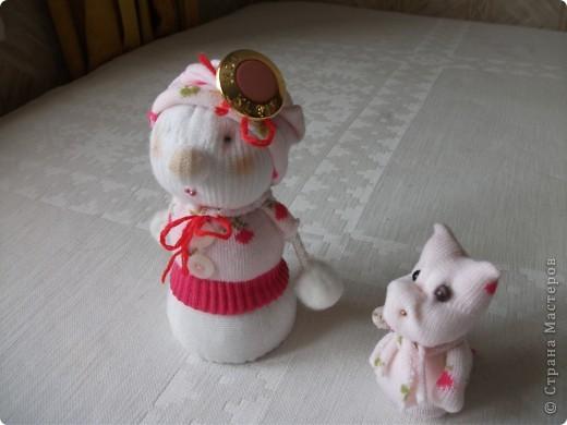 Снеговичок  и  дракончик . фото 1