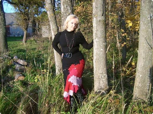 юбка вязана из полушерсти фото 1