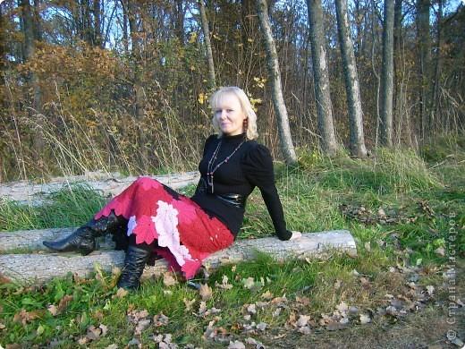 юбка вязана из полушерсти фото 2