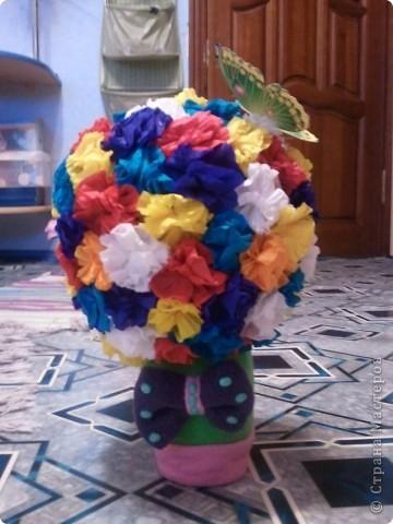 вот какие цветочки мы сделали с Танечкой!! фото 1