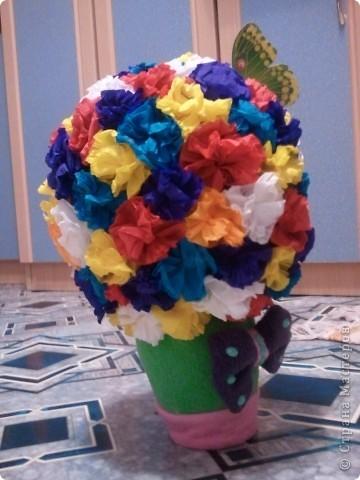 вот какие цветочки мы сделали с Танечкой!! фото 3