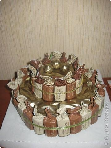 Торт и букет из конфет. фото 4