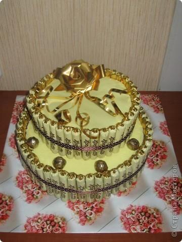 Торт и букет из конфет. фото 5